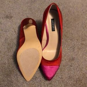 Shoemint Shoes - Red and pink high heels